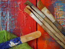 Painting art tools creative painting Royalty Free Stock Photos