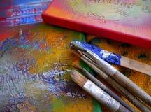 Painting art tools creative painting Stock Photo