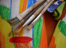 Painting art tools creative painting Royalty Free Stock Photography
