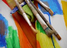 Painting art tools creative painting Stock Images