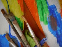 Painting art tools creative painting Stock Photography
