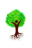 Painting art of a tree logo. With isolated background Royalty Free Stock Photography
