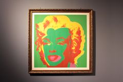 Painting by artist Andy Warhol Marilyn Monroe Marilyn, 1967 stock images