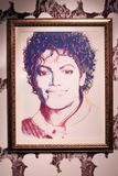Painting by artist Andy Warhol Michael Jackson, 1984 royalty free stock photo