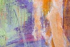 Painting Artistic bright color oil paints texture abstract artwork. Modern futuristic pattern for grunge wallpaper Stock Photo
