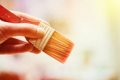 Painting artwork: paint brushes on painting background. Artist paint brush on painting background. Painting therapy drawing creative inspiration motivation stock photos