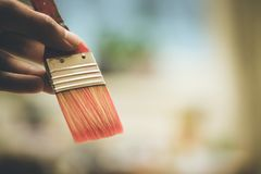Painting artwork: paint brushes on painting background. Artist paint brush on painting background. Painting therapy drawing creative inspiration motivation royalty free stock images