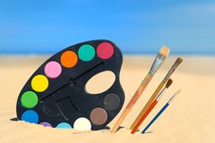 Free Painting At The Beach Royalty Free Stock Photography - 108189887