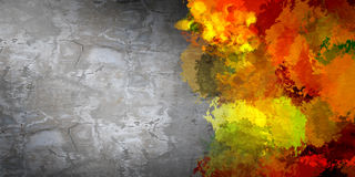 Painting background. Cement wall painted with colorful splashes. Renovation concept Stock Photography