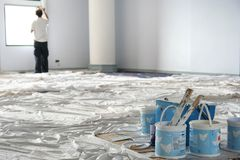Painting ball room Stock Images