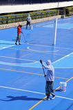 Painting Basketball court royalty free stock image