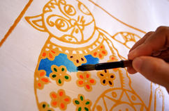 Painting batik Royalty Free Stock Photos