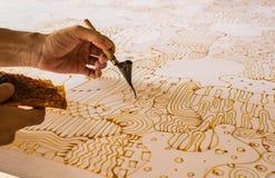 Painting batik royalty free stock photos