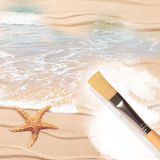 Painting The Beach Stock Photos