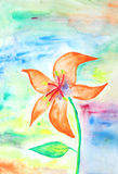 Painting of a beautiful flower Stock Photos