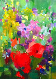 painting of beautiful flowers Royalty Free Stock Photo