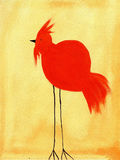 Painting of a of bird. This is an abstract painting of bird Royalty Free Stock Photo