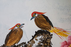 The painting of bird Royalty Free Stock Photo