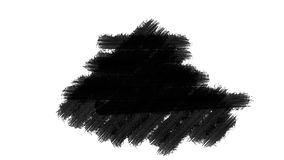 Painting Black Brush Grunge background for titles or other your text with alpha channel. Watercolor Retro art Vintage stock footage