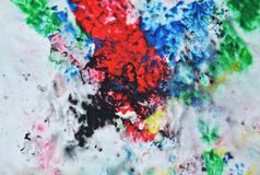 Painting black red green blue soft colors and hues. Abstract wet paint background. Painting spots. royalty free stock photos
