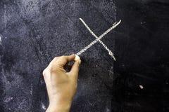 Painting on blackboard stock photos