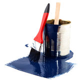 Painting in blue Royalty Free Stock Photo
