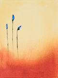 Painting of blue flowers. This is an abstract painting of blue flowers Royalty Free Stock Photos