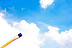 Painting the blue sky Stock Image