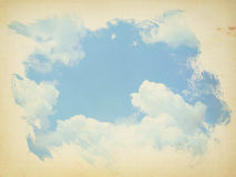 Painting blue sky Royalty Free Stock Photography