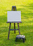 The painting board on green grass Stock Photography