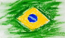 Painting of Brazil flag concept crafts