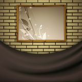 Painting at brick wall Royalty Free Stock Photos