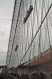Painting Brooklyn Bridge. Royalty Free Stock Images