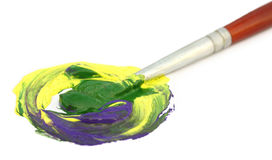Painting with brush Royalty Free Stock Photo