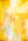 Painting brush strokes, Bright abstract background. Yellow abstract background, abstract painting Stock Image
