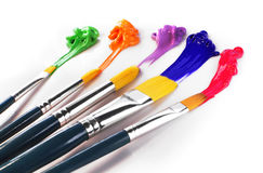 Painting Brushes Royalty Free Stock Photography