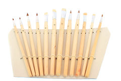 Painting brushes. Set of painting brushes isolated on white background Stock Photography