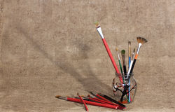 Painting brushes Stock Photo