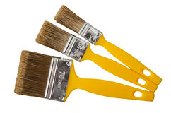 Painting brushes, isolated on a white Royalty Free Stock Photo