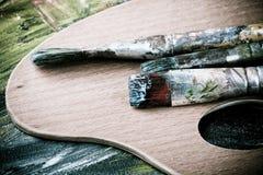 Painting brushes retro Royalty Free Stock Image