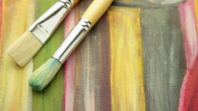 Painting with brushes tracking stock footage