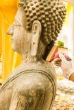 Painting buddha image . Stock Image