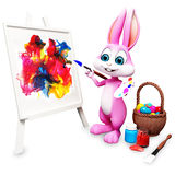 Painting bunny Royalty Free Stock Images