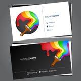 Painting business card Stock Photos