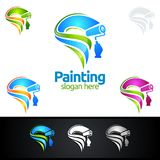 Painting business logo with colorful Splash represented painting logo. Painting Service vector Logo design Royalty Free Stock Image