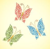 Painting butterfly, Royalty Free Stock Photos