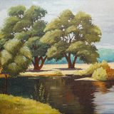 Painting on canvas. Beautiful Image of an original oil painting on canvas Royalty Free Stock Photo
