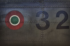 Painting canvas military texture. Depicting Italian badge Royalty Free Stock Photo