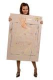 Painting cardboard Stock Image