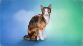 Painting of a Cat Stock Photography